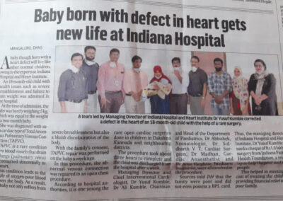 Rare heart surgery by doctors of Indiana Hospital gives breath of fresh air to 1 year 6 months old child.