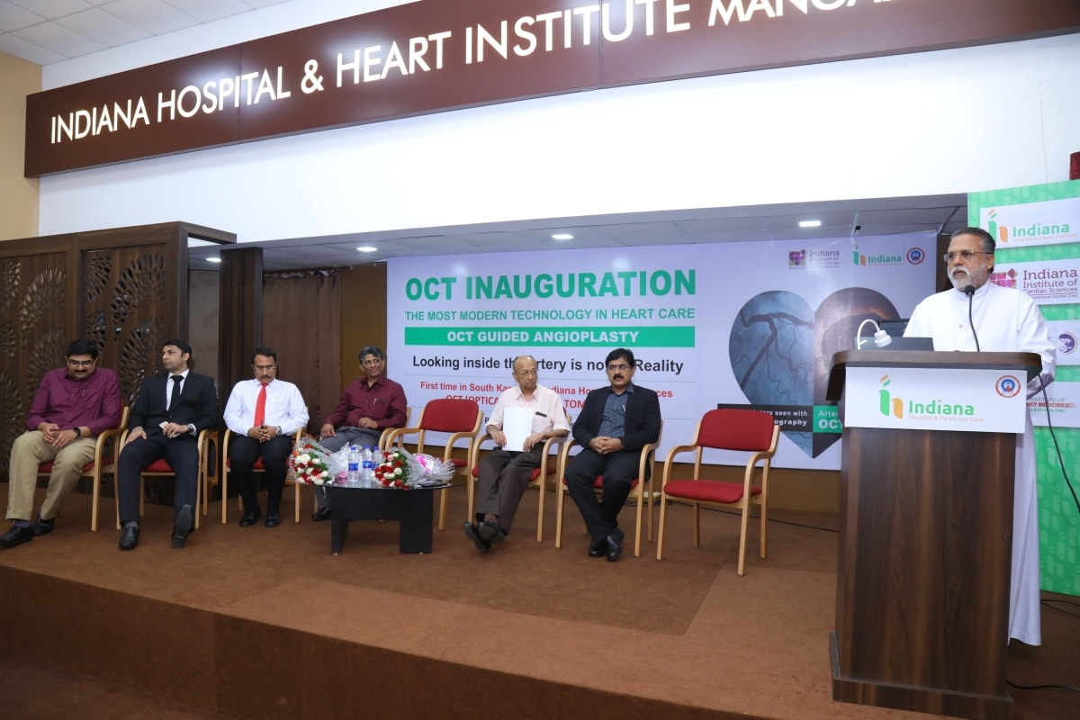 First Time in South Karnataka - Indiana Hospital & Heart Institute - Department of Cardiology launched OCT - Option Coherence Tomography   Image-Guided Angioplasty
