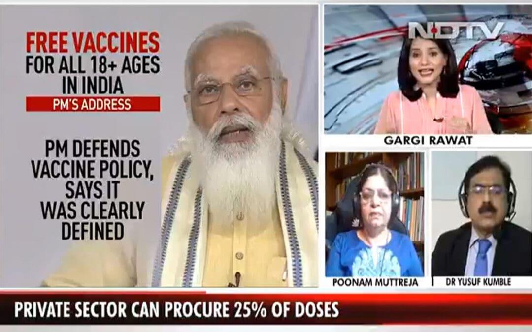 Dr Yusuf Kumble on NDTV